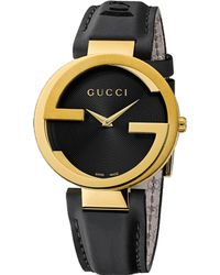 Gucci Special Edition Latin Grammy Interlocking Gold-plated Stainless Steel Watch - Lyst