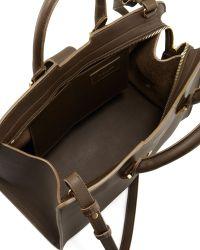 Saint Laurent Yligne Cabas Mini Bag Khaki - Lyst
