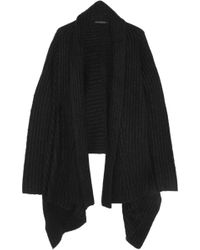 Donna Karan New York Ribbed Cashmere and Silk-blend Cardigan - Lyst
