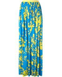 Emanuel Ungaro Abstract Print Pleated Skirt - Lyst