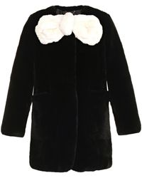 Marc Jacobs Black And White Fur Coat - Lyst