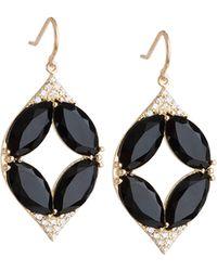 Jamie Wolf - Marquise Oval Onyx & Diamond Point Earrings - Lyst