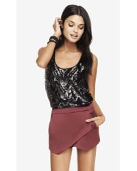 Express Sequin Front Tank - Lyst