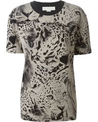 Stella McCartney Animal Print T-Shirt - Lyst