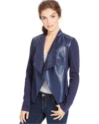 Kut From The Kloth Faux-Leather Draped Jacket - Lyst