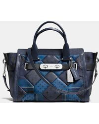 Coach Swagger In Printed Patchwork Leather - Lyst