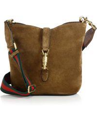 Gucci Jackie Soft Suede Bucket Bag - Lyst