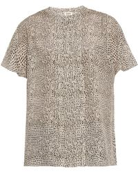 L'Agence Printed Silk Crepe De Chine Blouse - Lyst