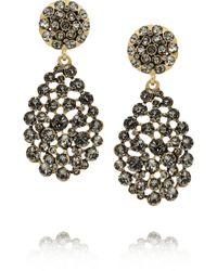 Oscar de la Renta Goldplated Crystal Earrings - Lyst
