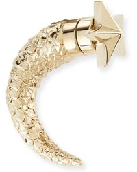Givenchy - Single Star Textured Shark-tooth Earring - Lyst