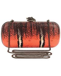 House Of Harlow Adele Snake-Embossed Clutch - Lyst