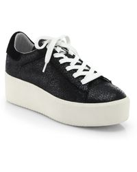 Ash Cult Pebbled Leather Platform Sneakers - Lyst