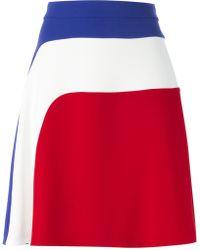 Carven Racer Stripe A-Line Skirt - Lyst