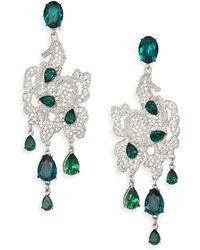 Oscar de la Renta | Lace Drop Earrings | Lyst