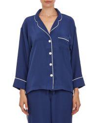 Sleepy Jones Silk Pajama Shirt - Lyst