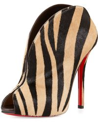 Christian Louboutin Chester Fille Calf Hair Red Sole Bootie - Lyst