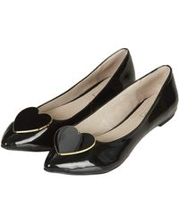 Topshop Womens Southheart Pointed Shoes Black - Lyst