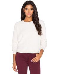Bella Luxx - Long Sleeve Faux Sherpa Sweatshirt - Lyst