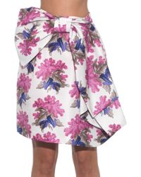 Caterina Gatta - Bow-front Floral-print Skirt - Lyst