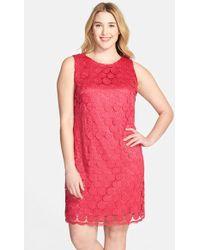 Eliza J Dress Sleeveless Lace Shift Dress - Lyst