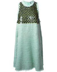 MSGM Embellished Tweed Dress - Lyst