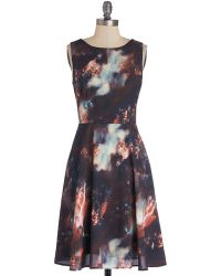 ModCloth The Way I Galaxy It Dress blue - Lyst