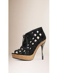 Burberry | Cut-Out Suede Ankle Boots | Lyst