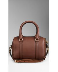 Burberry The Small Alchester In Leather - Lyst