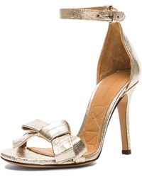 Isabel Marant Play Easy Leather Evening Sandals - Lyst