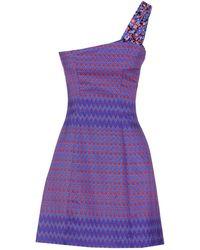 Versus  Short Dress blue - Lyst