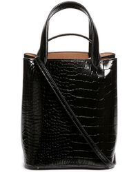 Alaïa - Croc Embossed Mini Leather Bucket Tote - Lyst