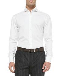 Brunello Cucinelli Slimfit Buttondown Shirt - Lyst