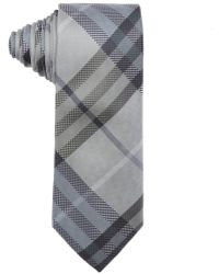 Burberry London Slate Green Nova Check Print Silk 'Rohan' Tie gray - Lyst