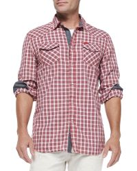 Diesel Check Shirt W Contrast Placket  Cuffs - Lyst