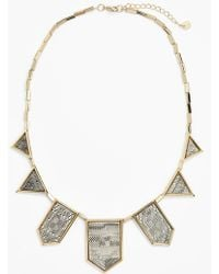 House Of Harlow 1960 1960 Engraved Frontal Necklace - Lyst