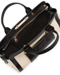Chloé Alice Colorblock Medium Satchel Bag Husky Whiteblack - Lyst