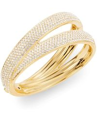 Adriana Orsini Pavé Ribbon Bangle Bracelet - Lyst