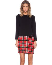 Marc By Marc Jacobs Toto Plaid Long Sleeve Dress - Lyst