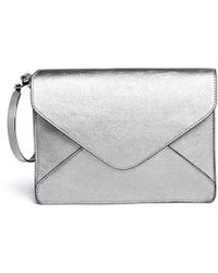 Boyy Metallic Leather Envelope Bangle Clutch - Lyst