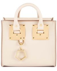 Sophie Hulme Leather Mini Crossbody Tote - Lyst