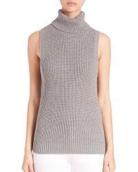 MICHAEL Michael Kors | Shaker Sleevelessturtleneck Sweater | Lyst