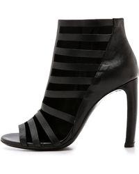Vic Matie' Open Straps Sandals - Black - Lyst
