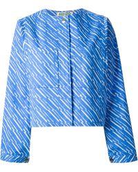 Kenzo Printed Loose Fit Jacket - Lyst