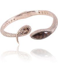 Vara Of London - The Serpentine Open Bangle - Lyst