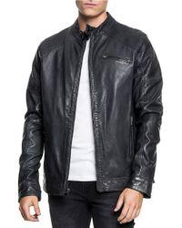 Lamarque - Aaron Leather Moto Jacket - Lyst