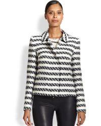 ESCADA Striped Tweed Jacket - Lyst