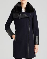 Via Spiga - Coat - Faux Fur Collar - Lyst