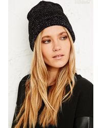 Urban Outfitters - Lurex Beanie Hat - Lyst