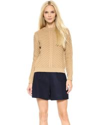 Carven Long Sleeve Sweater  - Lyst