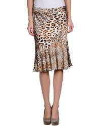 Class Roberto Cavalli Knee Length Skirt - Lyst